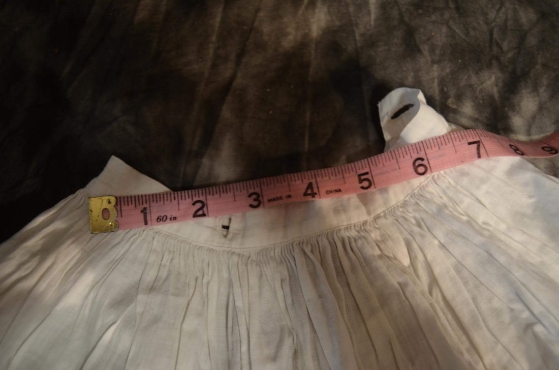 ANTIQUE/VINTAGE FULL GATHERED COTTON DOLL SLIP - 2