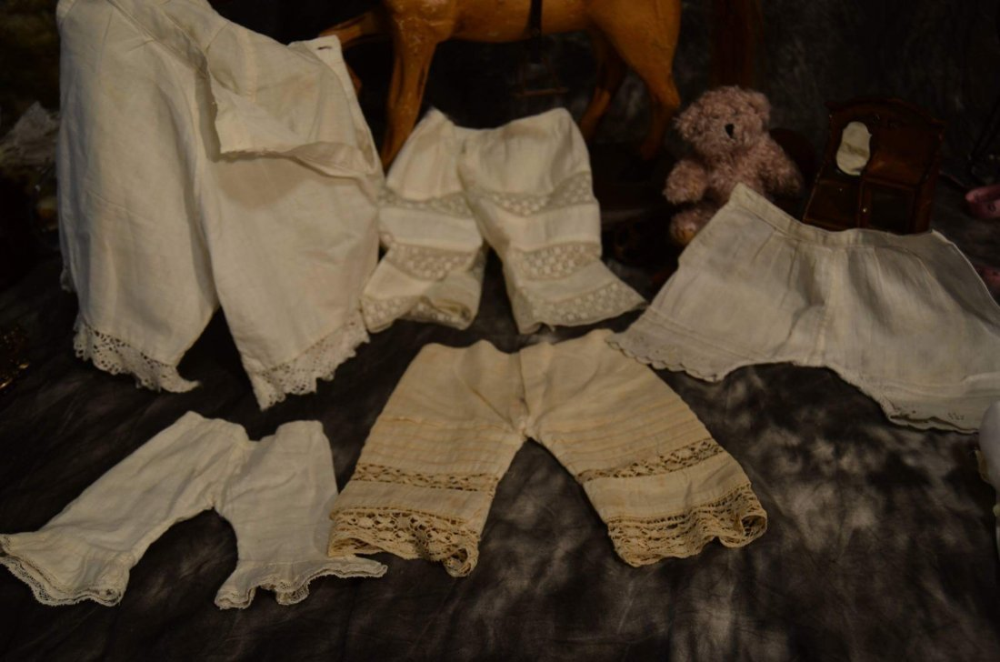 LOT OF 5 PAIRS ANTIQUE PANTALOONS