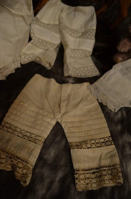 LOT OF 5 PAIRS ANTIQUE PANTALOONS - 2