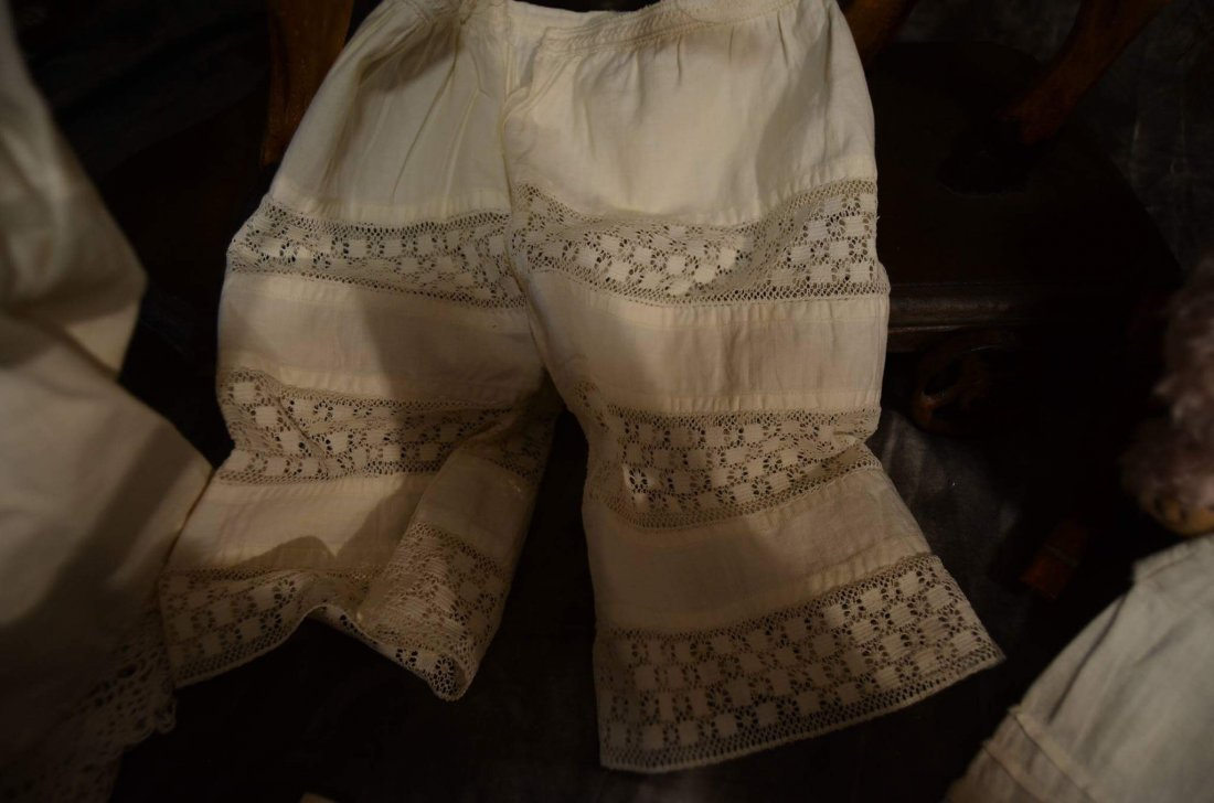 LOT OF 5 PAIRS ANTIQUE PANTALOONS - 3