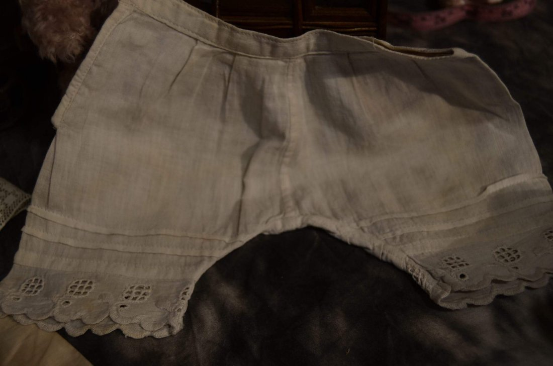 LOT OF 5 PAIRS ANTIQUE PANTALOONS - 5