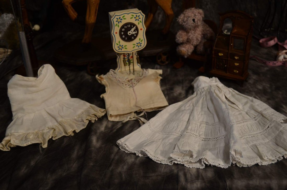 LOT OF 3pcs ANTIQUE/VINTAGE DOLL UNDER CLOTHING