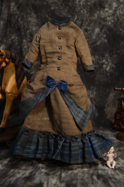 EXQUISITE ANTIQUE FRENCH FASHION DOLL DRESS ~ 2pc ~