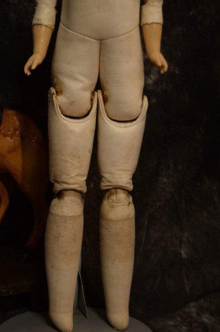 ANTIQUE BISQUE SHOULDERHEAD w KID LEATHER BODY - 2