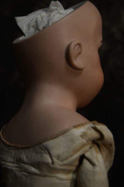 ANTIQUE BISQUE SHOULDERHEAD w KID LEATHER BODY - 5