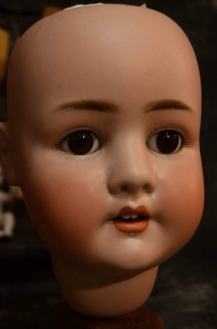 LOT OF 5 ANTIQUE BISQUE DOLL HEADS ~ DAMAGED ~ - 3