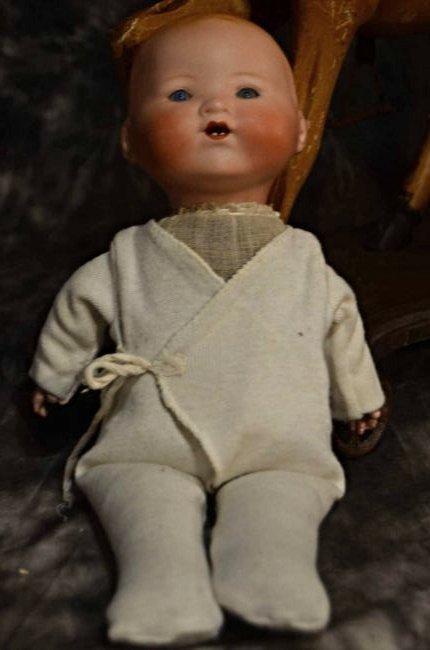 """ANTIQUE BISQUE HEAD DOLL ~ DREAM BABY ~ 12 1/2"""""""