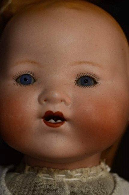 """ANTIQUE BISQUE HEAD DOLL ~ DREAM BABY ~ 12 1/2"""" - 2"""