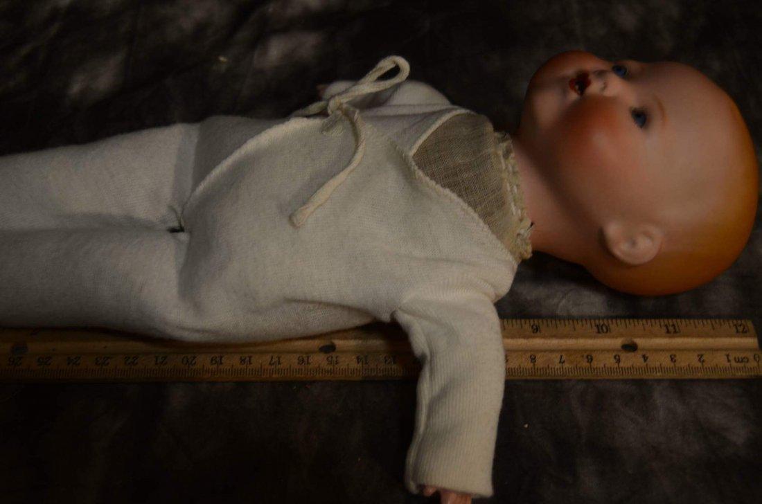 """ANTIQUE BISQUE HEAD DOLL ~ DREAM BABY ~ 12 1/2"""" - 3"""