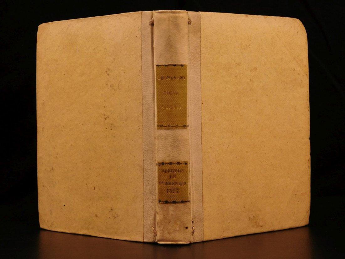 1497 Medieval Saint Bonaventure Incunabula