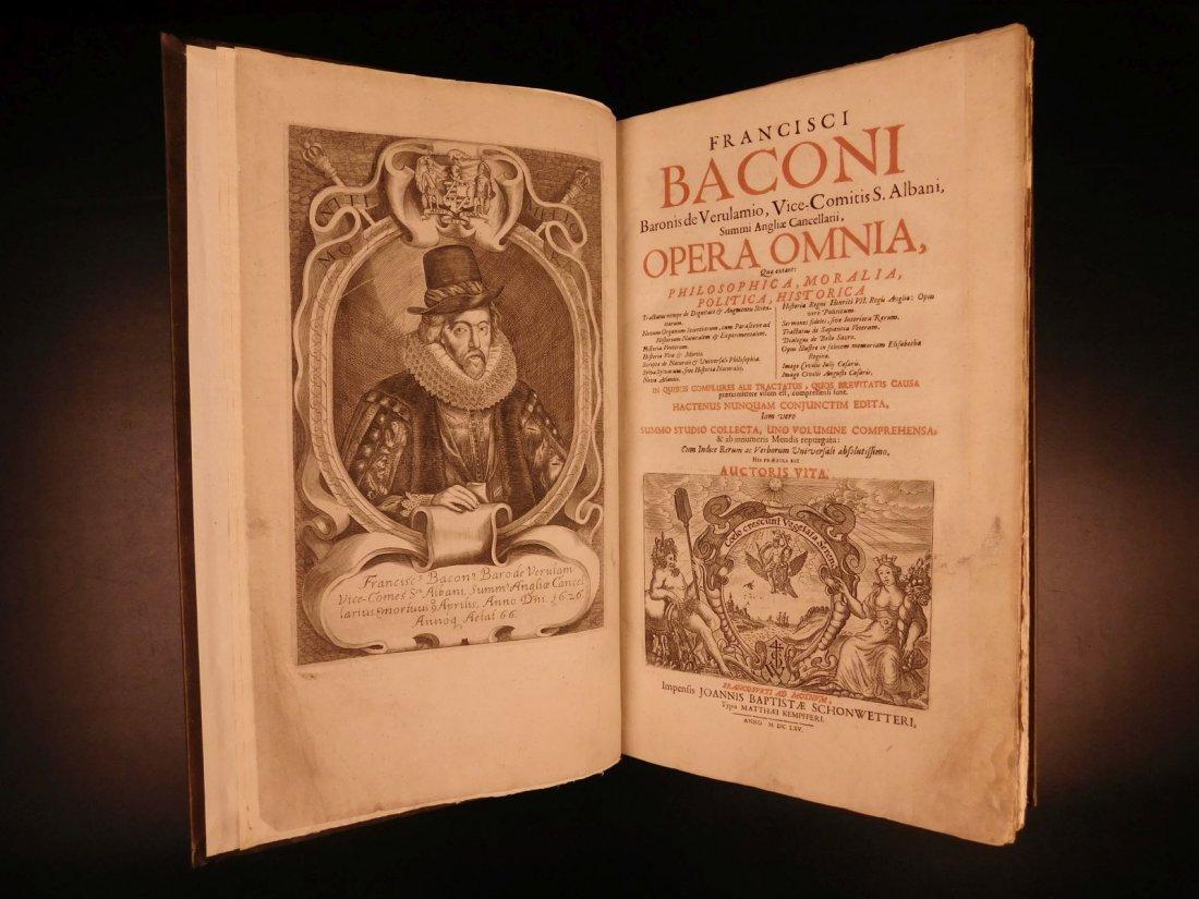 1665 Francis Bacon New Atlantis Novum Organum - 2