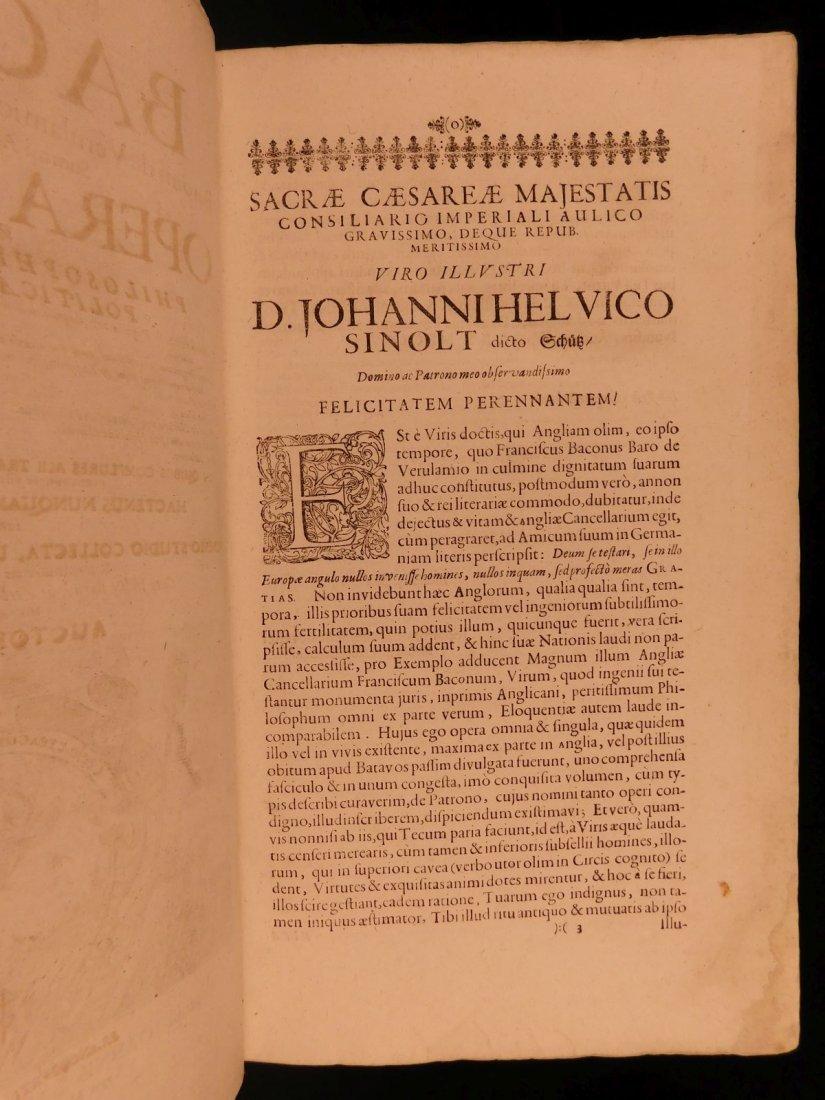 1665 Francis Bacon New Atlantis Novum Organum - 3
