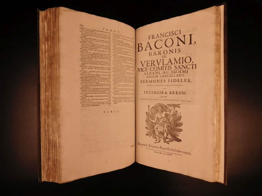 1665 Francis Bacon New Atlantis Novum Organum - 8