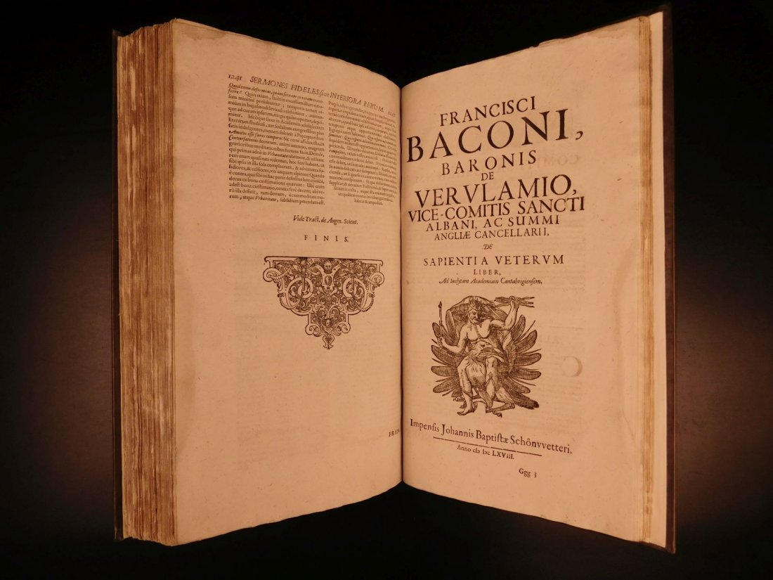 1665 Francis Bacon New Atlantis Novum Organum - 9