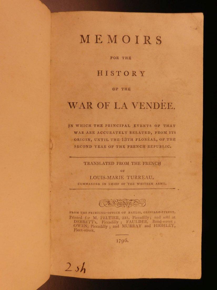 1796 1st English ed Vendee War French Revolution - 2