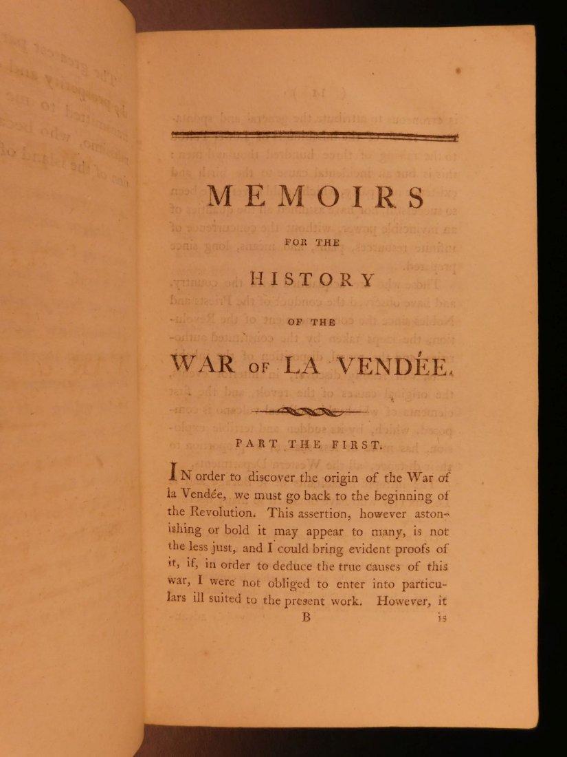 1796 1st English ed Vendee War French Revolution - 4
