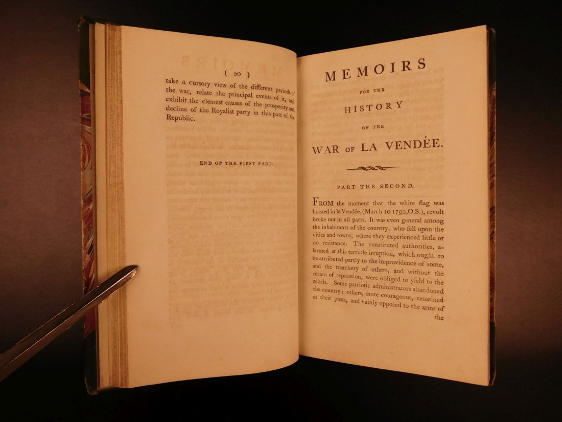 1796 1st English ed Vendee War French Revolution - 5