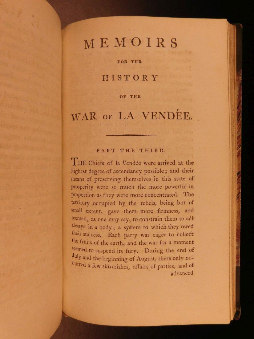 1796 1st English ed Vendee War French Revolution - 6