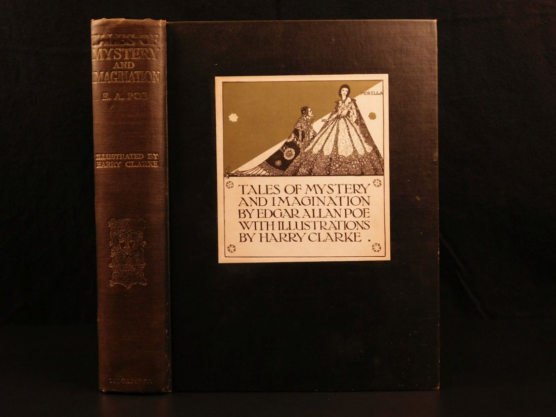 1933 1st ed E A Poe Tales of Mystery Clarke Illustrated