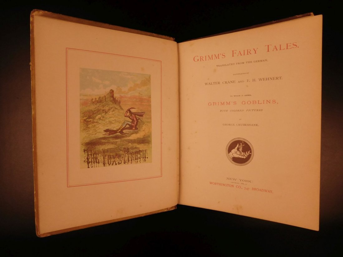 1888 Grimm's Fairy Tales Illustrated Rumpelstiltskin - 4