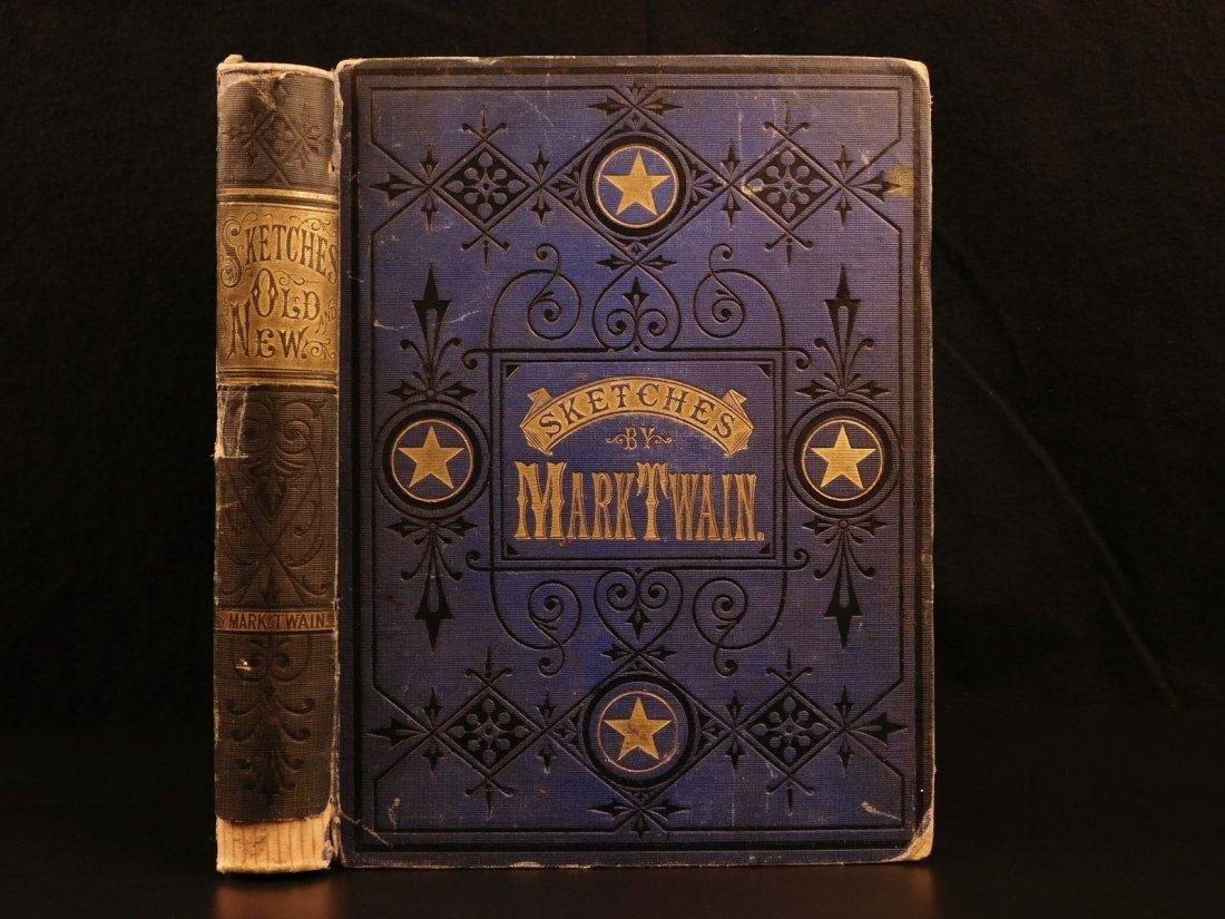 1875 1st ed Sketches Mark TWAIN Samuel Clemens