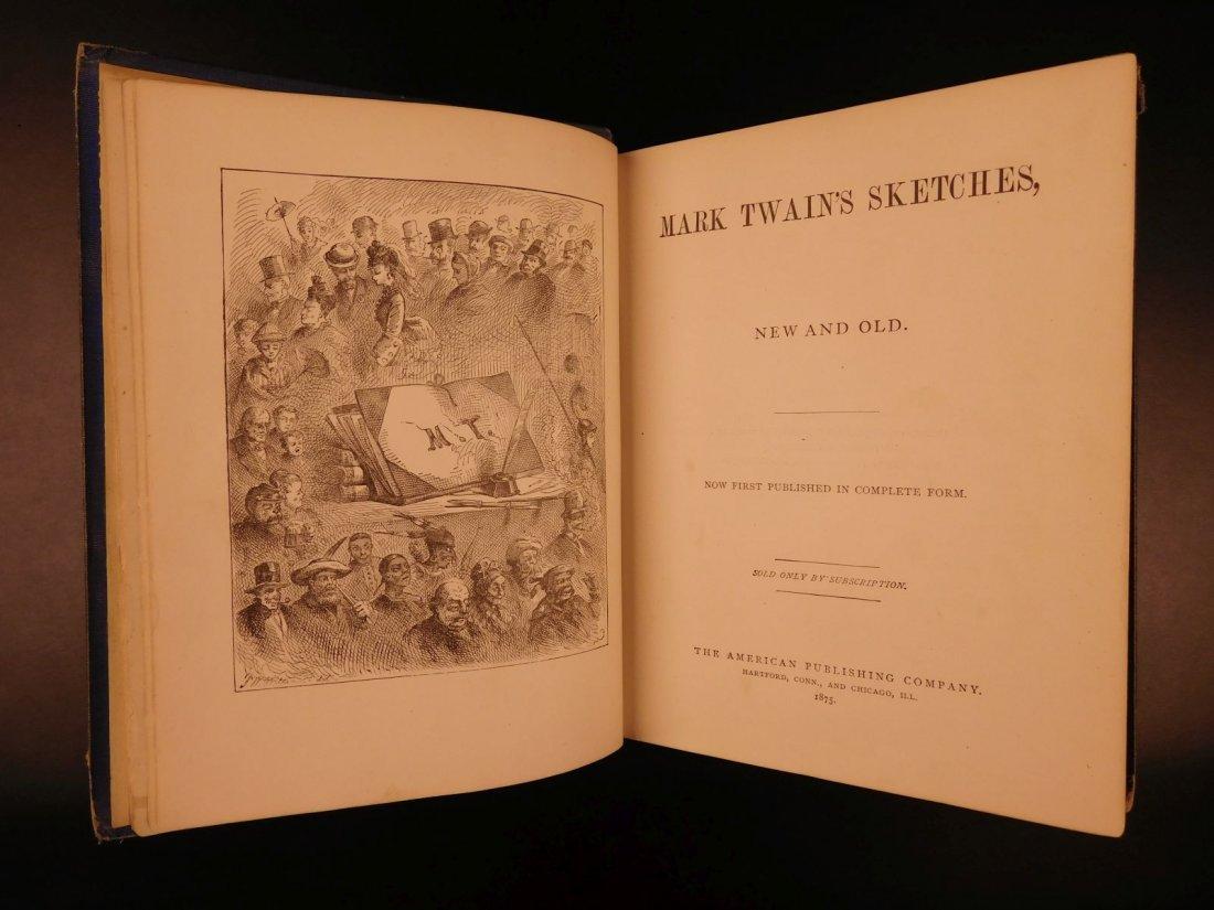 1875 1st ed Sketches Mark TWAIN Samuel Clemens - 3