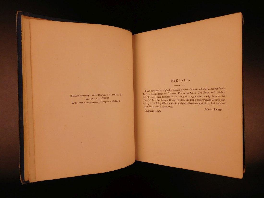 1875 1st ed Sketches Mark TWAIN Samuel Clemens - 4