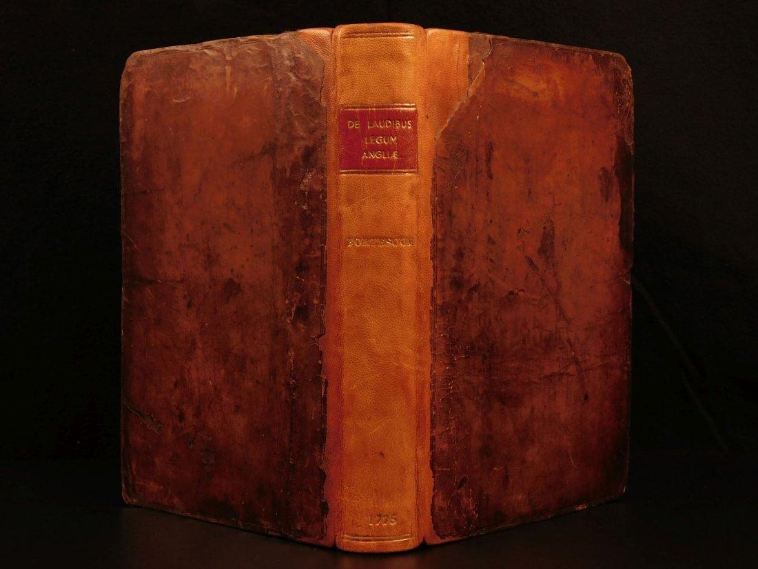 1775 English LAW John Fortescue Laudibus Legum England