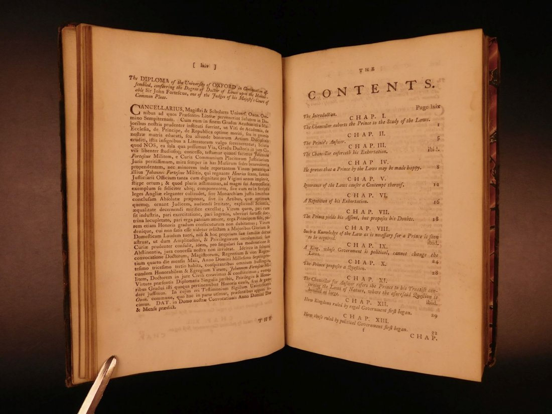 1775 English LAW John Fortescue Laudibus Legum England - 5