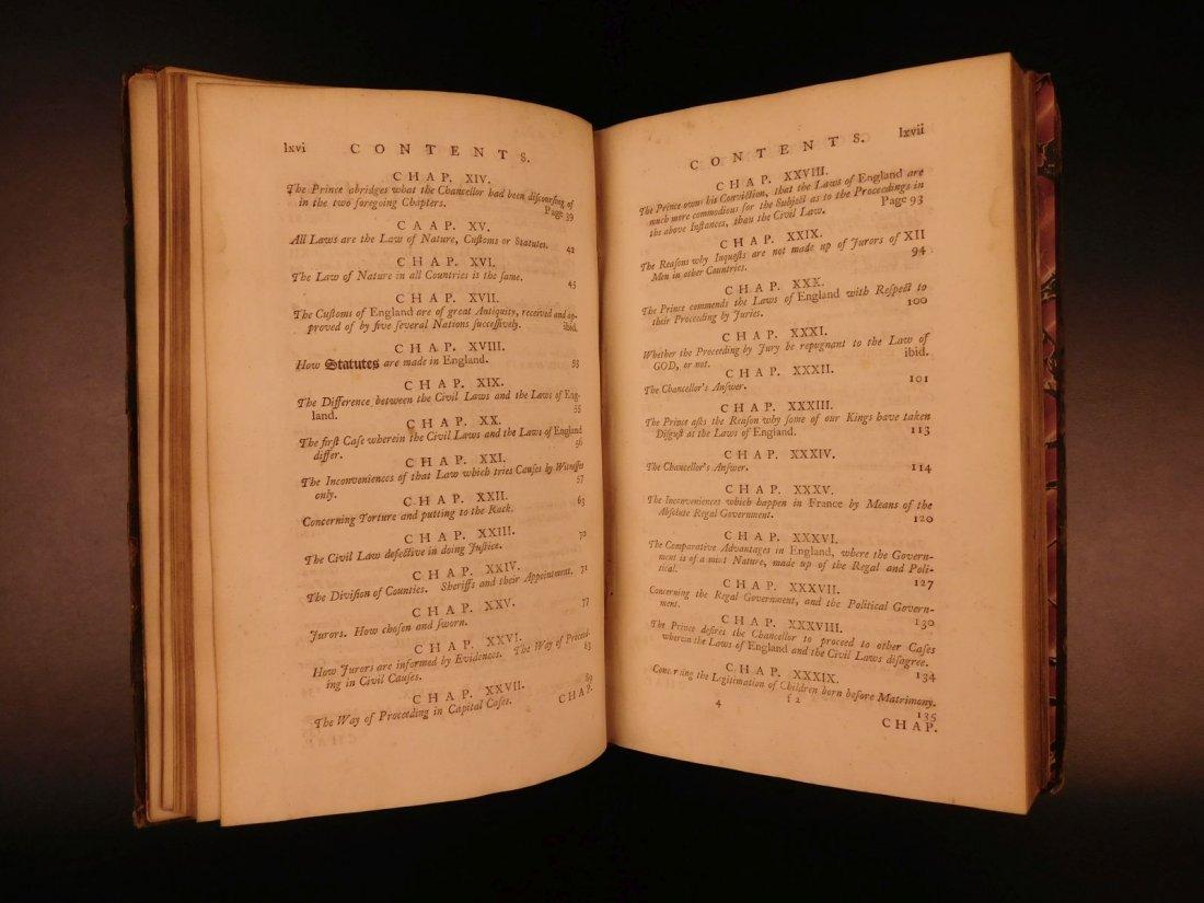 1775 English LAW John Fortescue Laudibus Legum England - 6