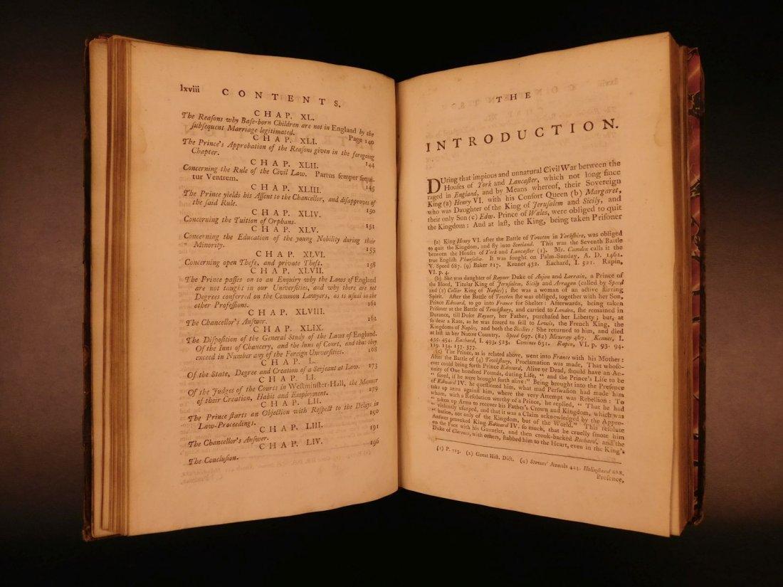 1775 English LAW John Fortescue Laudibus Legum England - 7