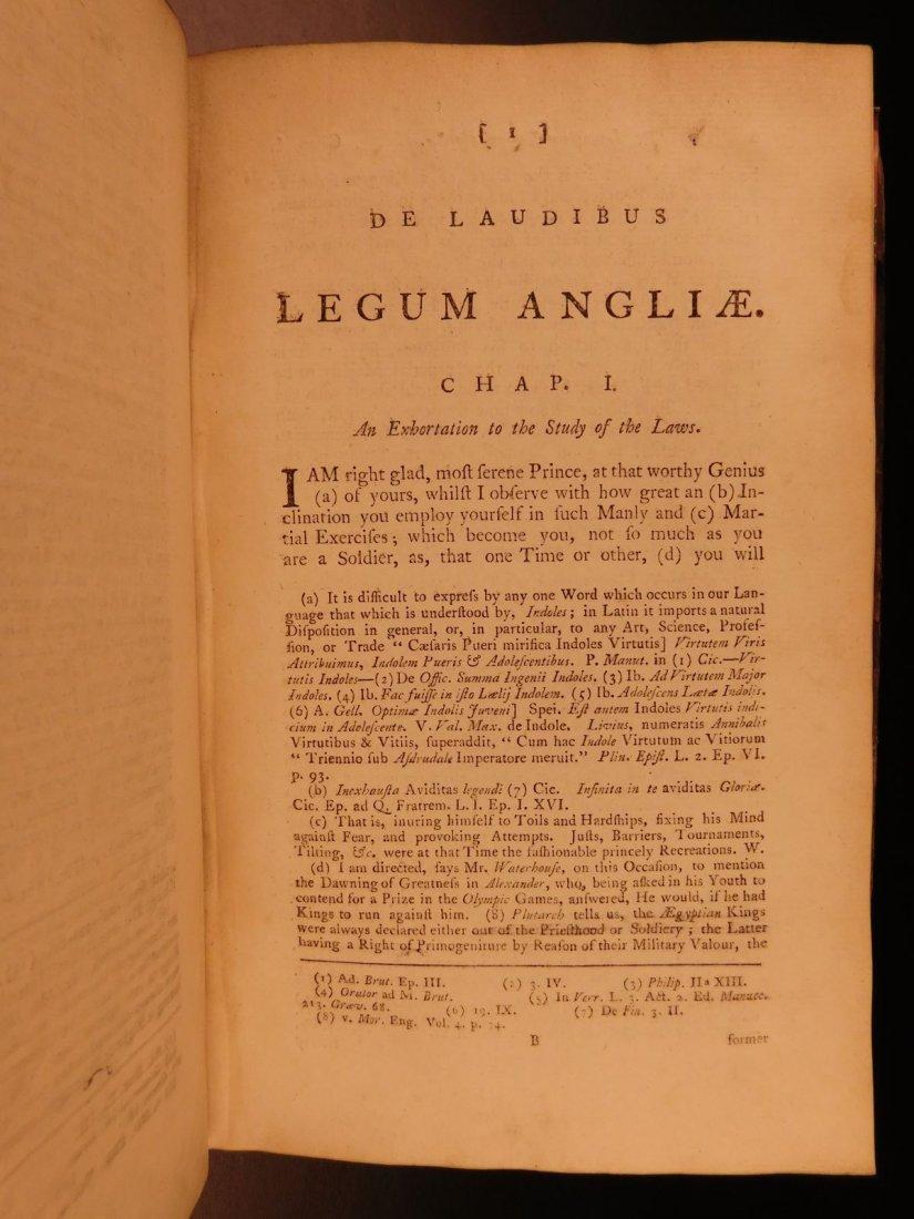 1775 English LAW John Fortescue Laudibus Legum England - 8