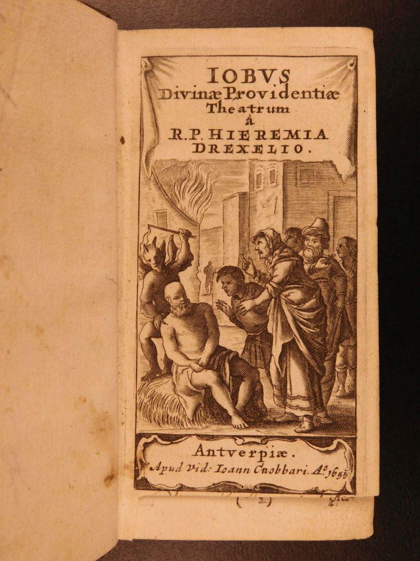 1626 Jeremias Drexel Jobas Bible JOB + Palaestra Sin - 2