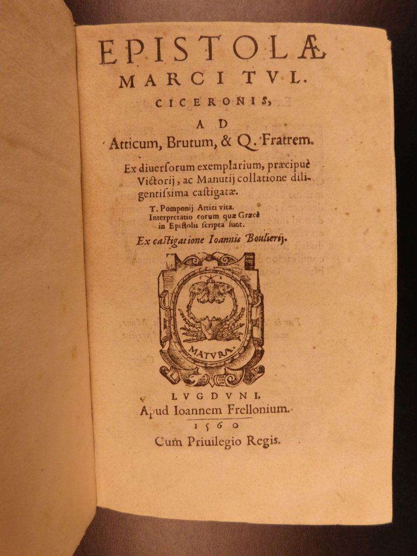 1560 CICERO Epistolae Letters Roman Republic Julius - 2