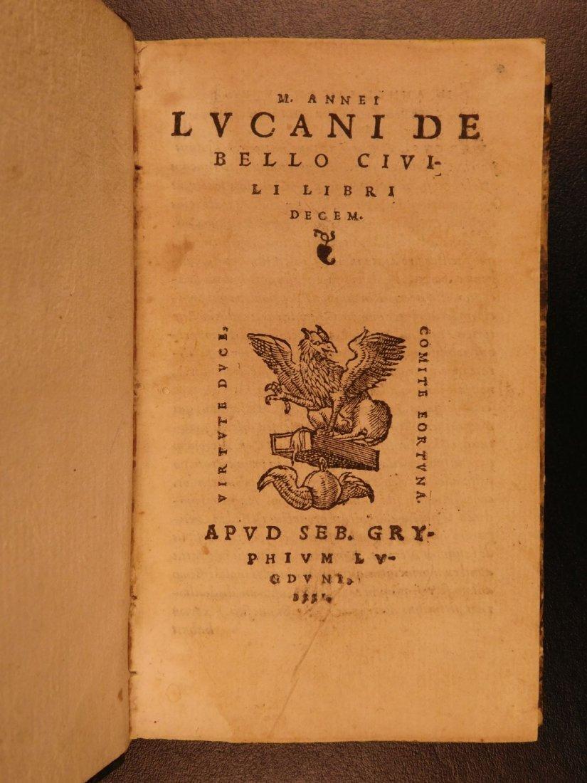 1547 PHARSALIA Julius Caesar Civil War Lucan Pompey - 2