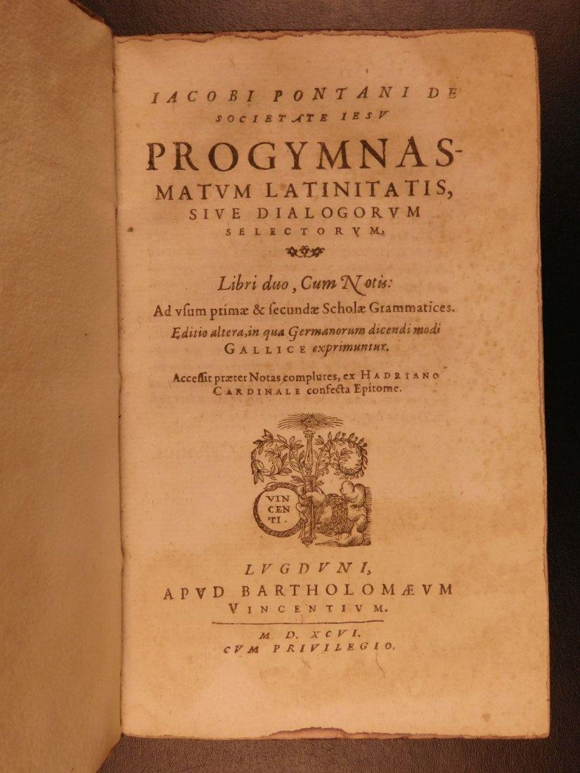 1596 Jesuit Pontanus Art of Writing Renaissance - 2