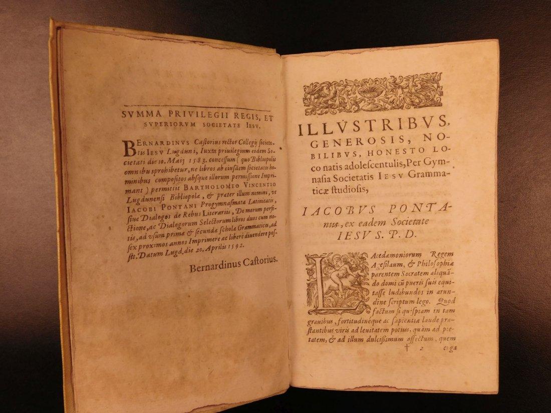 1596 Jesuit Pontanus Art of Writing Renaissance - 3