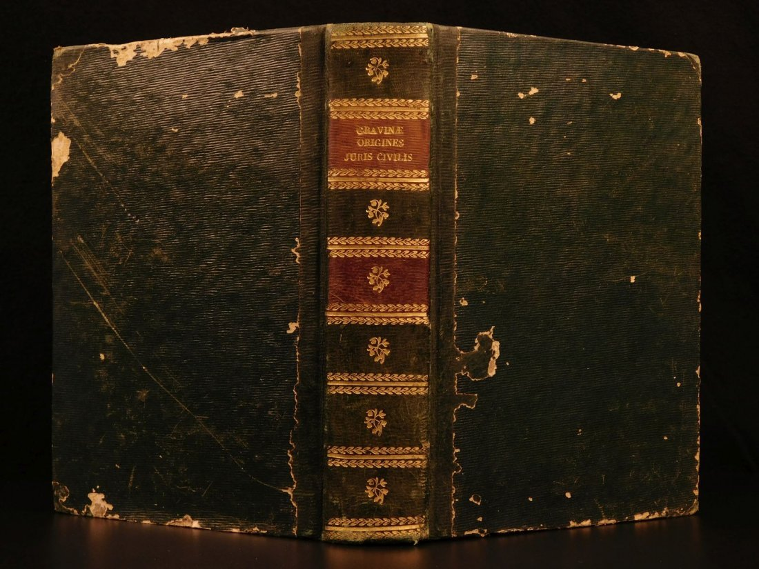 1713 1ed Originum Juris Civilis Thomas Jefferson