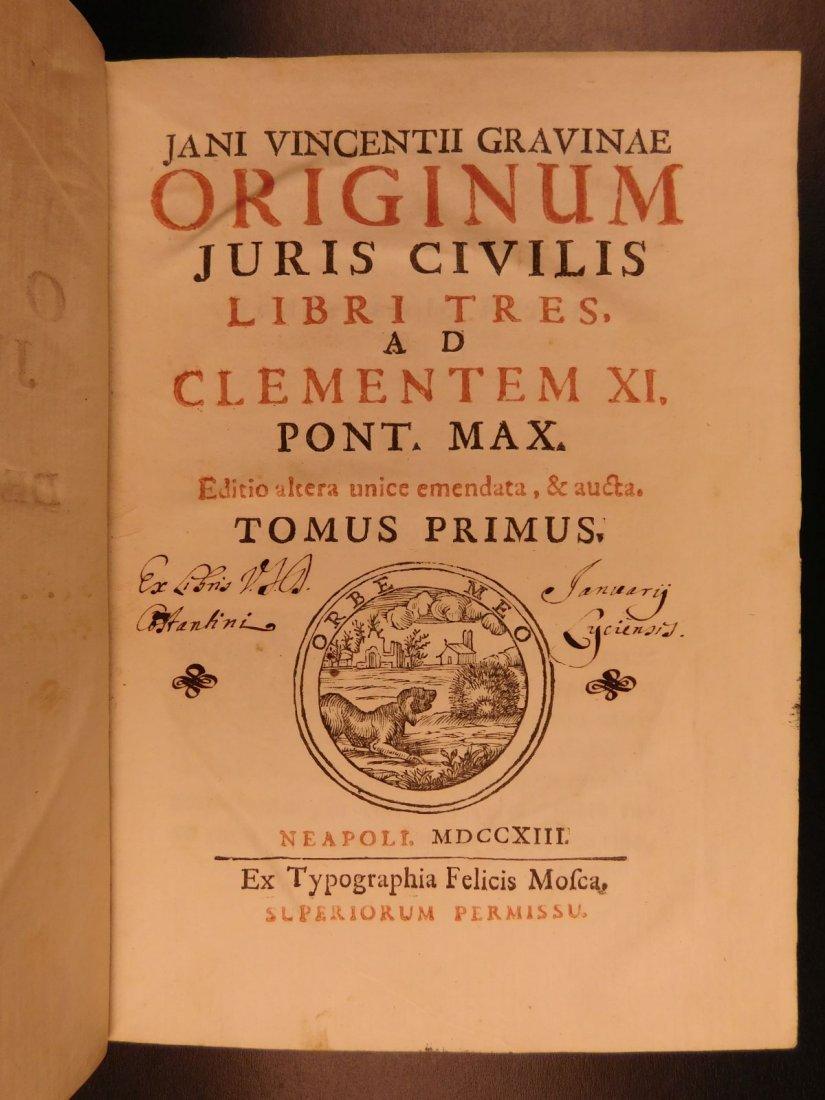 1713 1ed Originum Juris Civilis Thomas Jefferson - 2