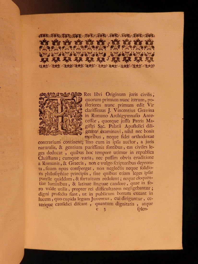 1713 1ed Originum Juris Civilis Thomas Jefferson - 6