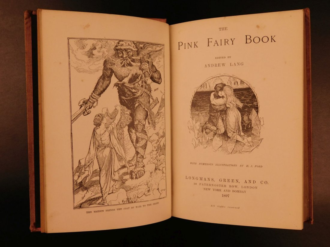1897 1st ed Pink Fairy Book Snow Queen Andrew Lang - 2