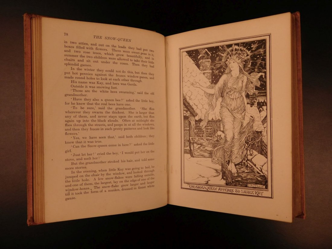 1897 1st ed Pink Fairy Book Snow Queen Andrew Lang - 4