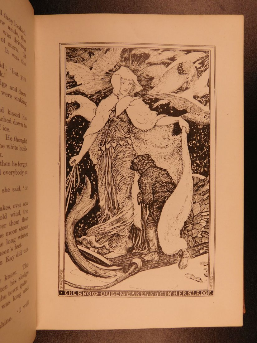 1897 1st ed Pink Fairy Book Snow Queen Andrew Lang - 5