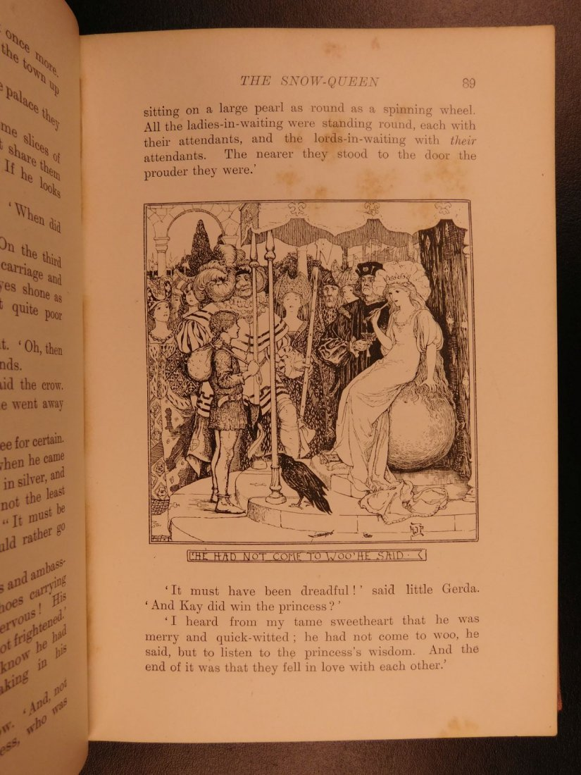 1897 1st ed Pink Fairy Book Snow Queen Andrew Lang - 6