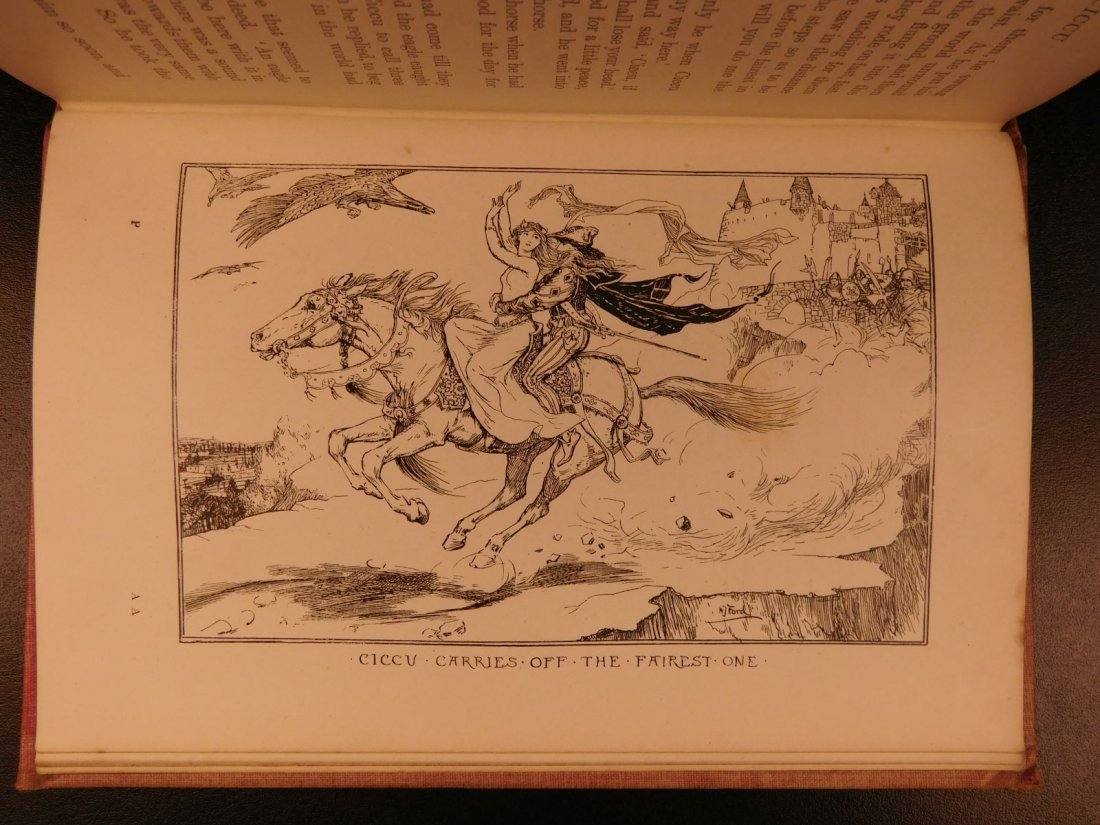 1897 1st ed Pink Fairy Book Snow Queen Andrew Lang - 9