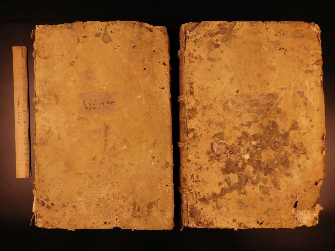 1535 HUGE Medieval Law Folios of Alexander Tartagni