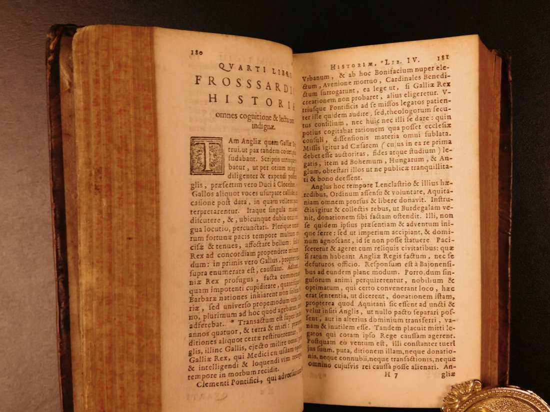 1656 1st ed Chronicles of Jean Froissart ELZEVIER - 8