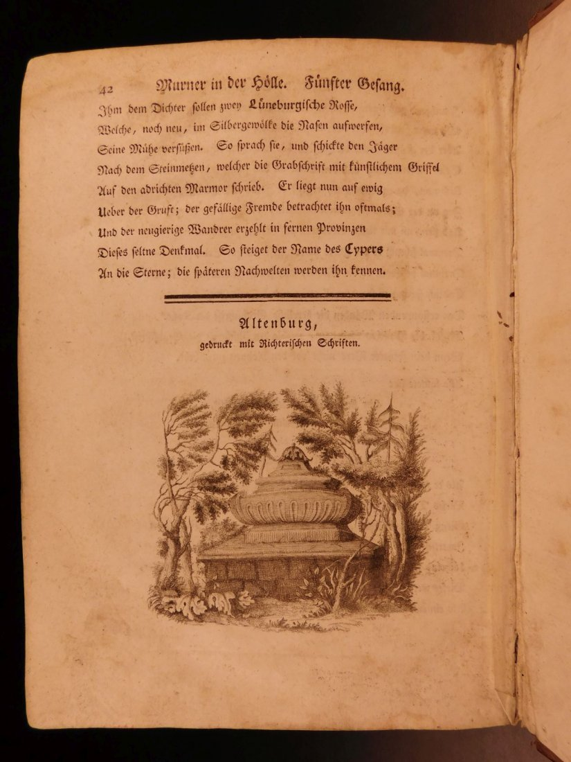 1767 Justus Zacharia German Poems Creation of Hell - 10