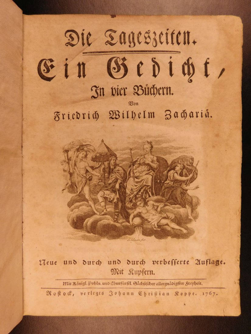 1767 Justus Zacharia German Poems Creation of Hell - 2