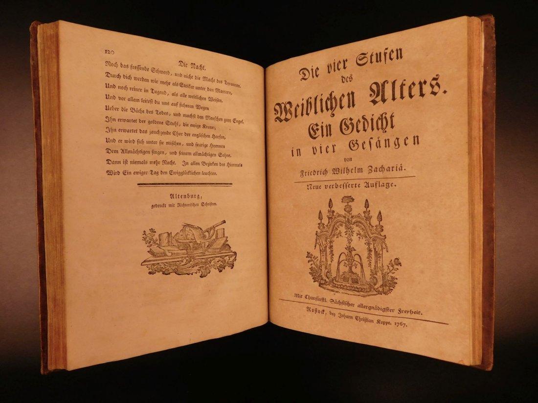 1767 Justus Zacharia German Poems Creation of Hell - 8